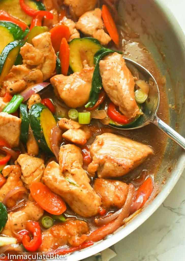 Stir Fry Chicken And Vegetables Immaculate Bites