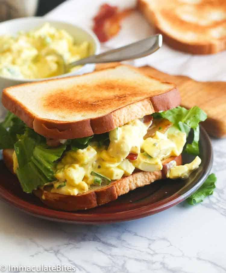 Food 1 2016 3 25 Egg Salad Sandwich No Mayo >> Egg Salad Sandwich