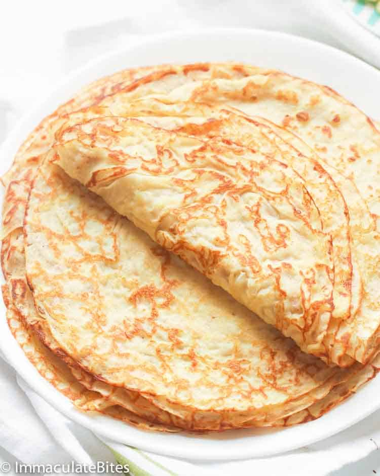 Easy Crepe Recipe Immaculate Bites