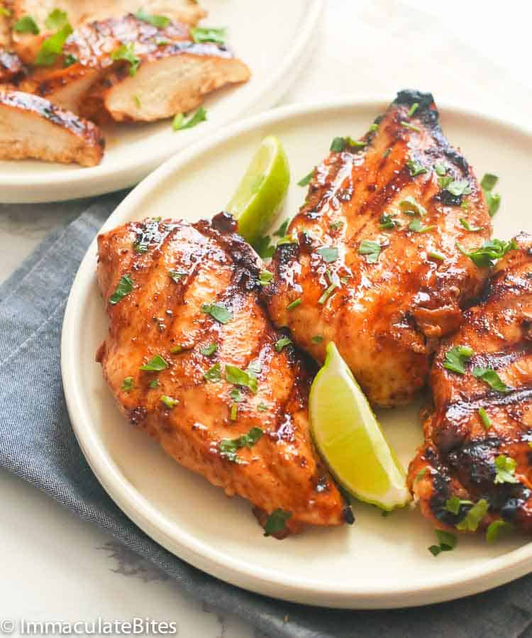 Marinated Grilled Chicken Breast Immaculate Bites