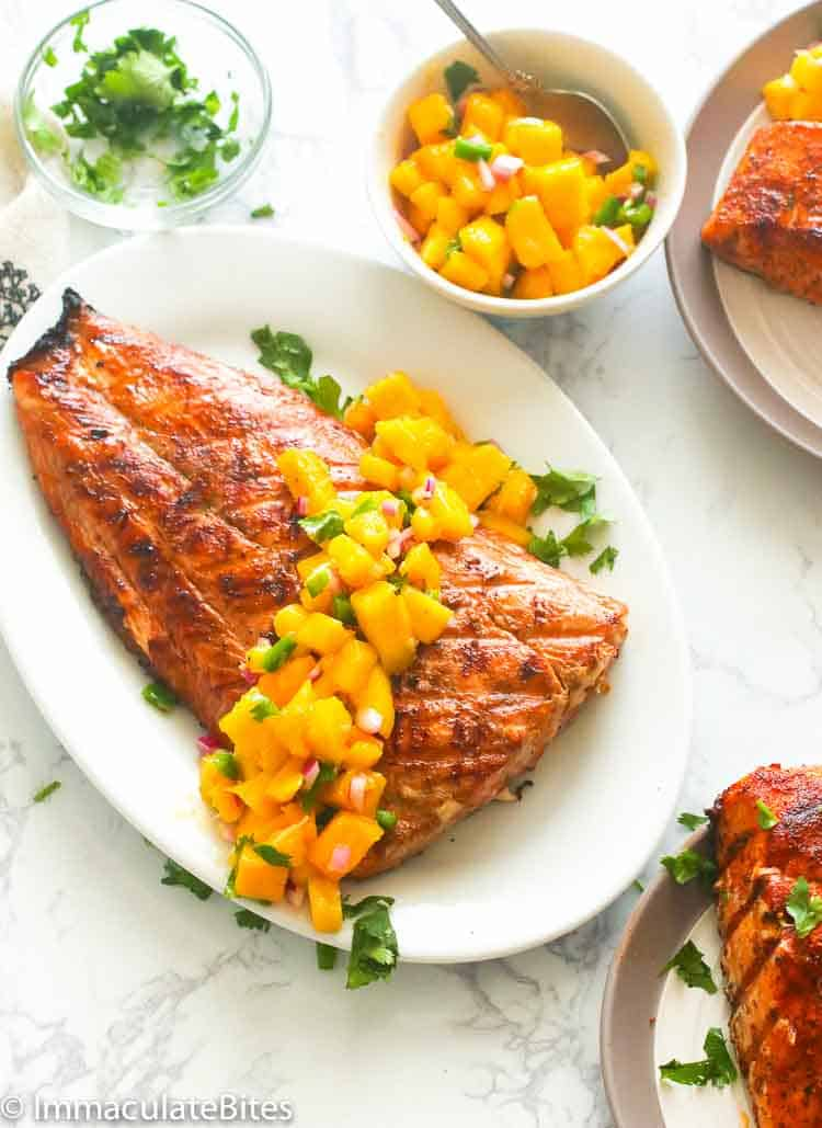 Grilled Salmon Recipe Immaculate Bites