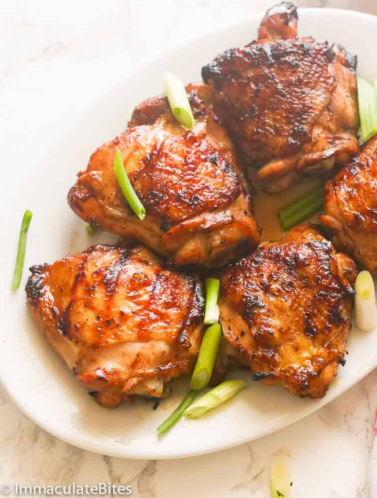 Hawaiian Grilled Chicken Thighs Immaculate Bites