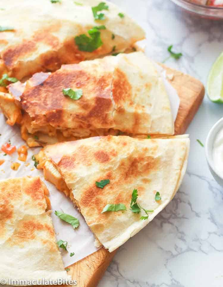 Chicken Quesadilla Immaculate Bites