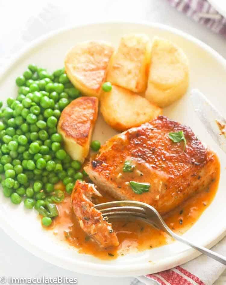 Pan Fried Boneless  Pork Chop