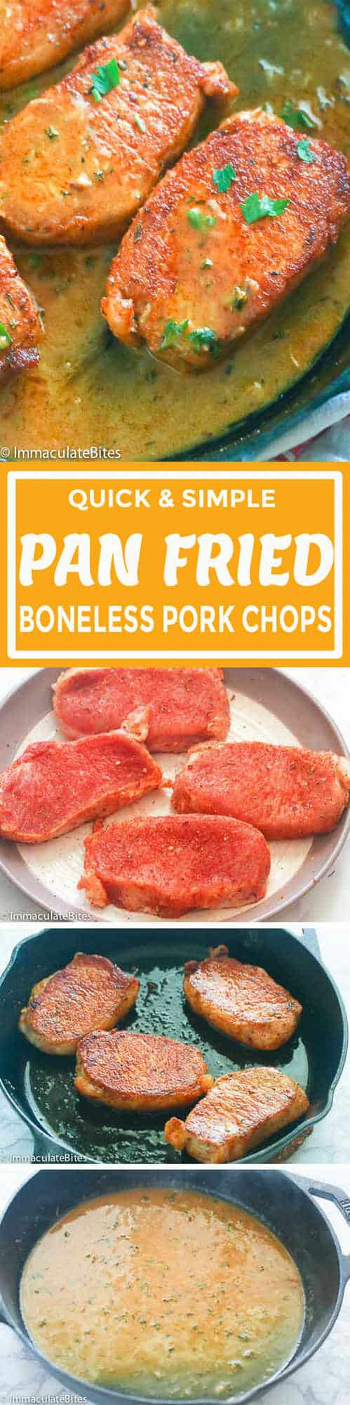 Pan Fried Boneless Pork Chops