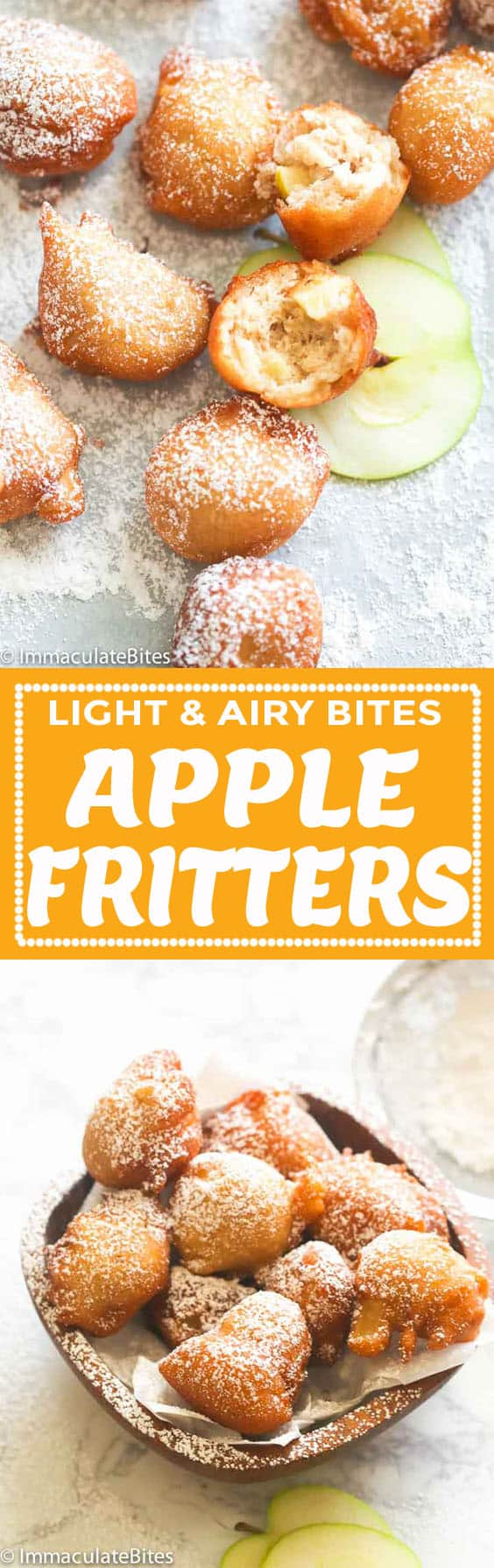 Apple Fritters Immaculate Bites
