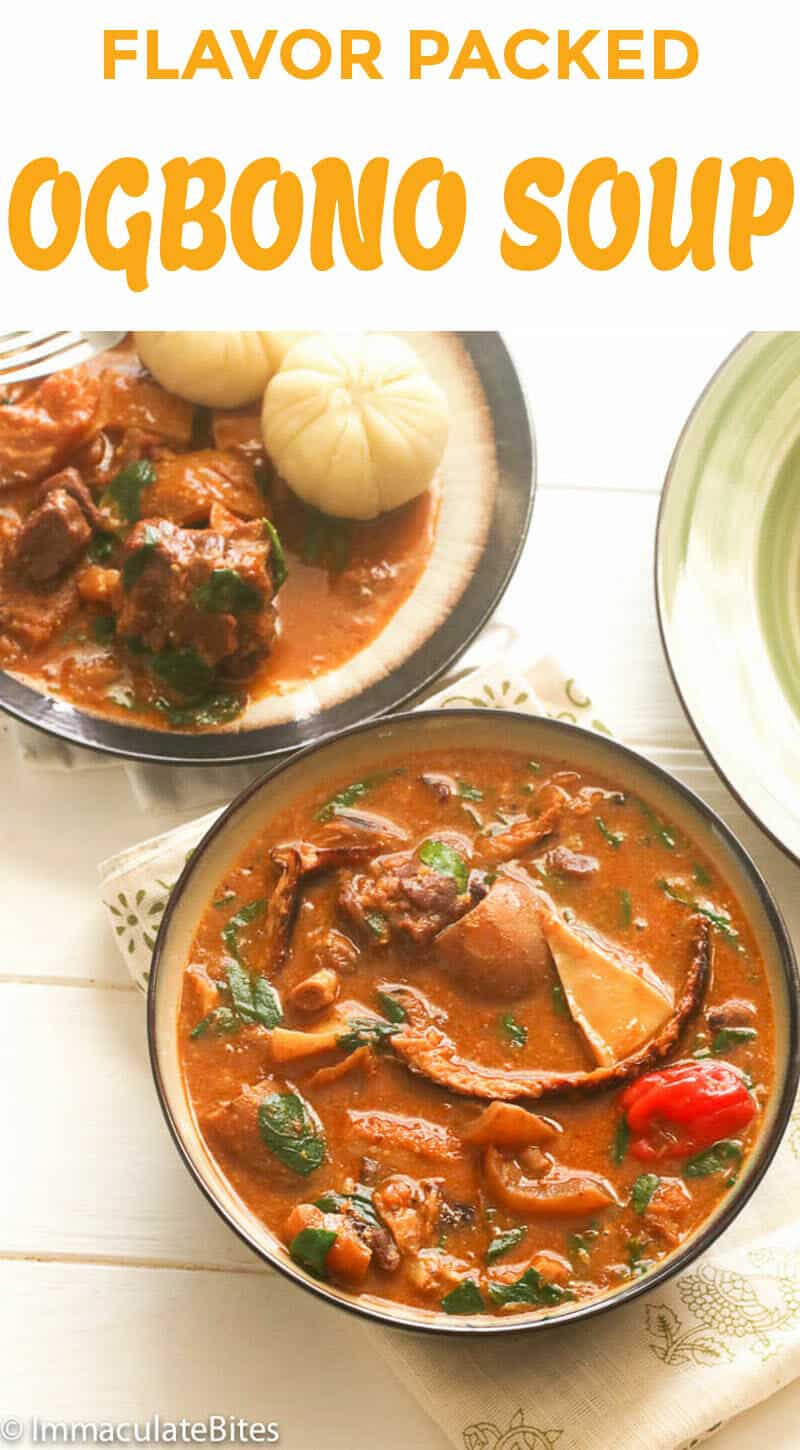 Ogbono Soup and Ponded Yam