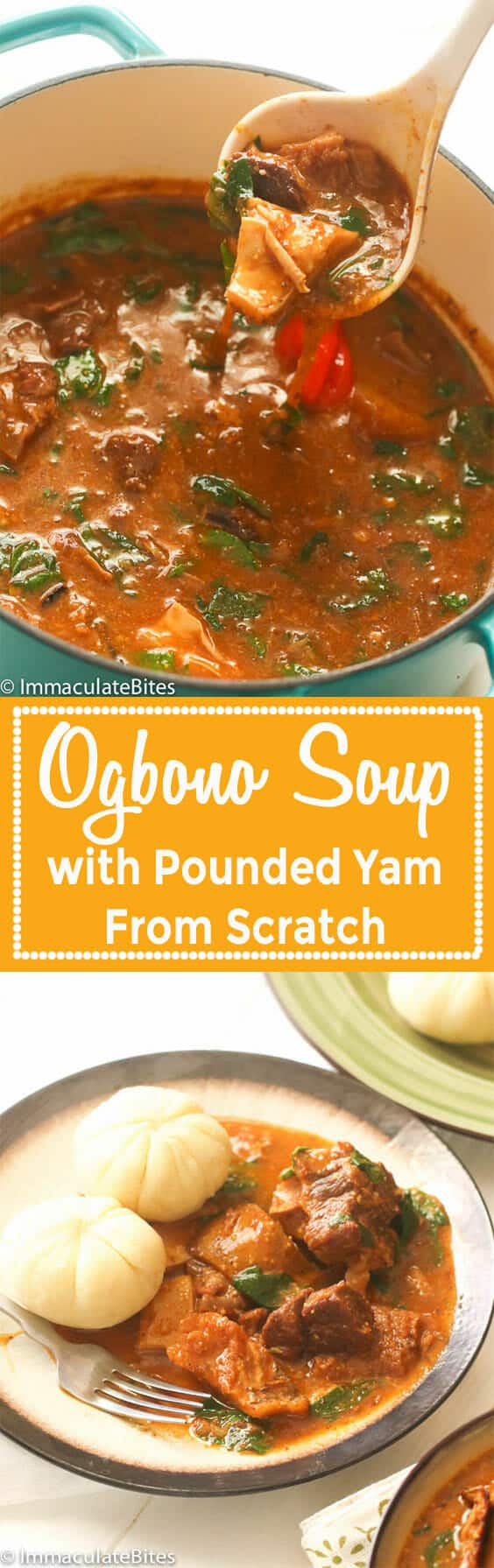 Ogbono Soup and Pounded Yam