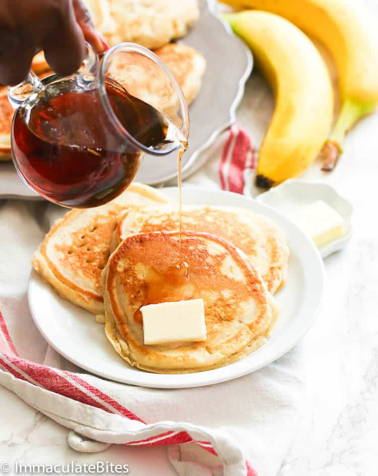 Banana Pancakes Immaculate Bites