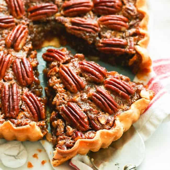Sliced Pecan Pie