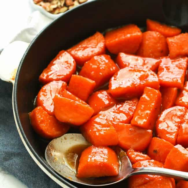 Candied Sweet Potatoes - Thanksgiving appetizers-
