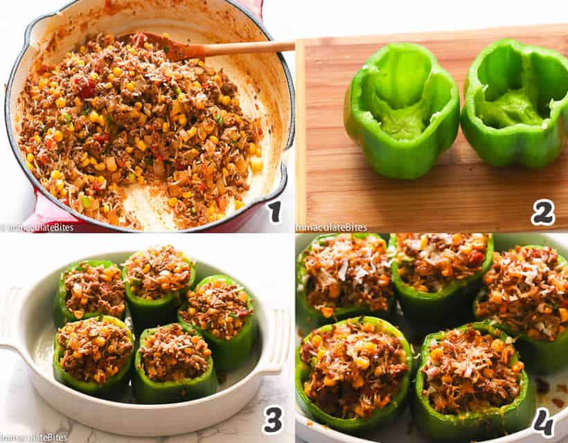 How to Make Stuffed Green Bell Peppers