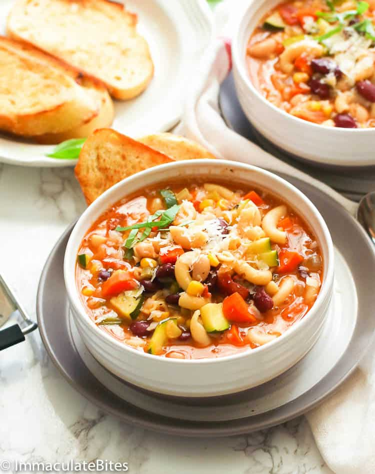 Minestrone Soup Immaculate Bites