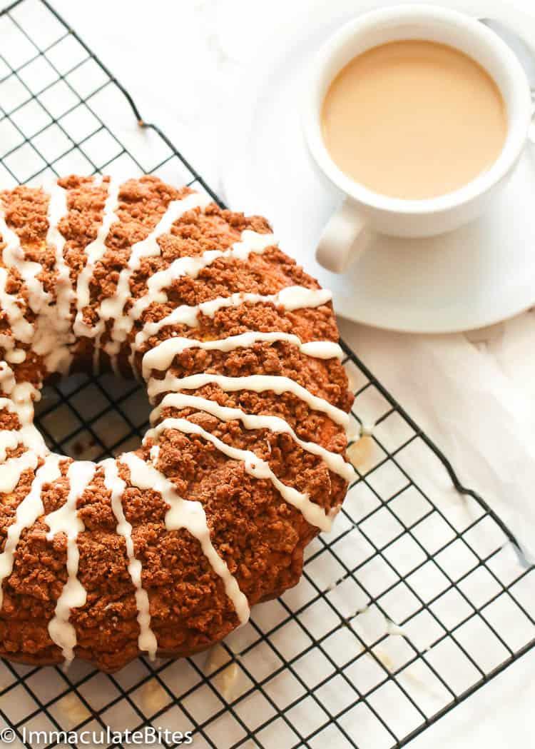 Coffee Cake with Coffee