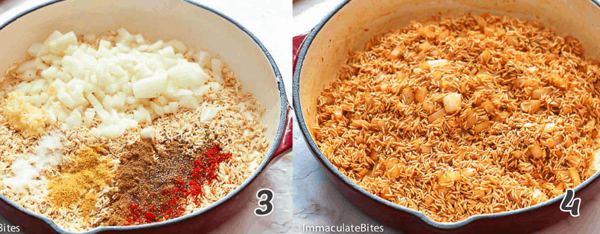 Flavoring the brown Rice