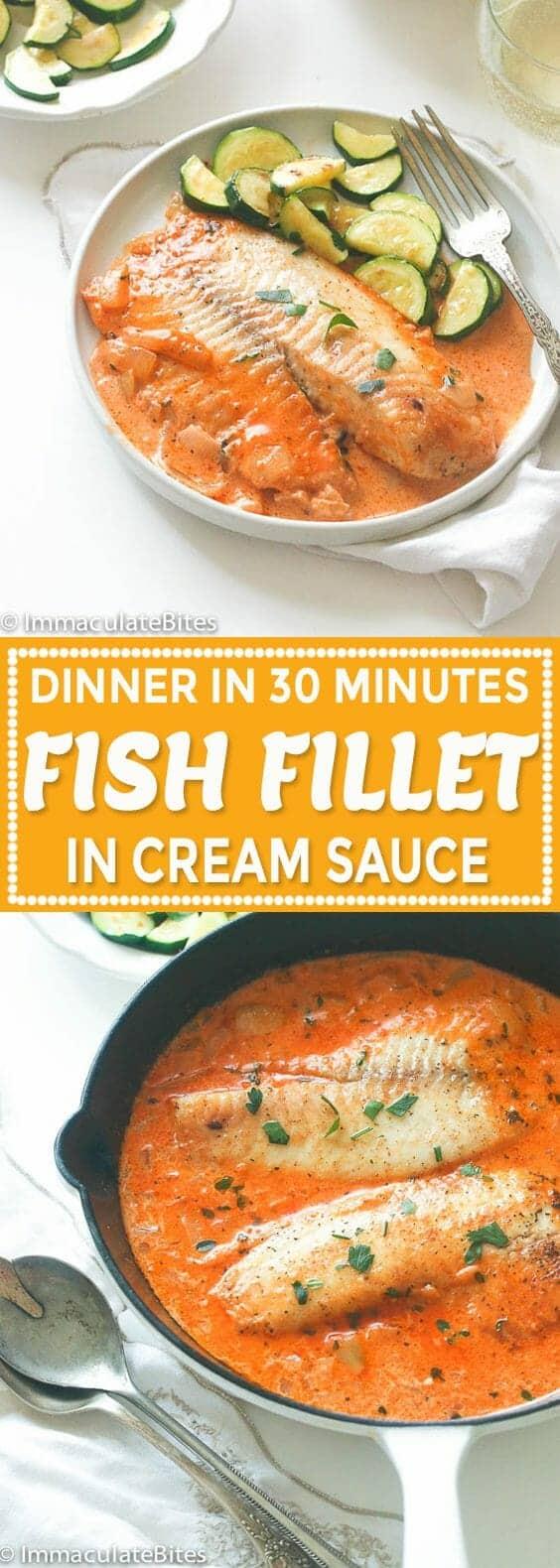 Fish Fillet in Cream Sauce