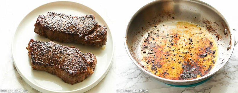 Steak au Povire