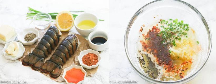 Grilled Lobster Ingredients