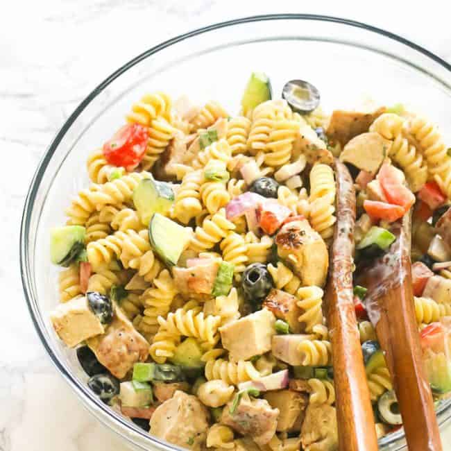 Creamy Chicken Pasta Salad