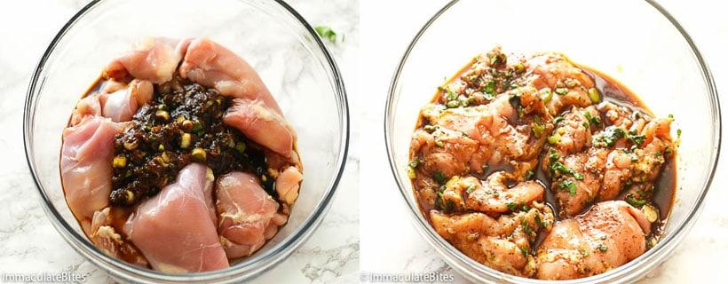 Chicken Marinated in a Teriyaki Sauce