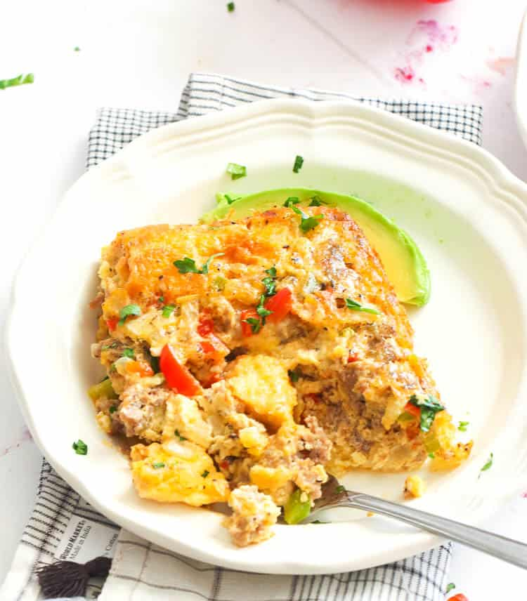 Sausage Egg Casserole in a plate