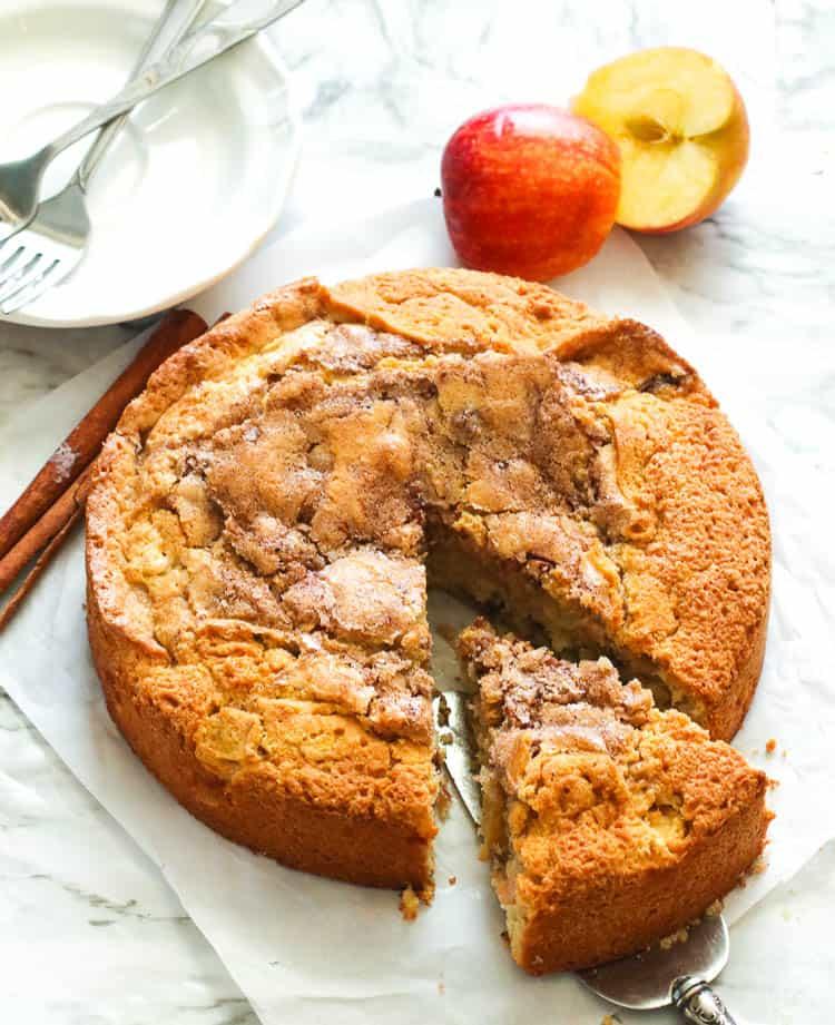 Sliced immaculatebites cinnamon apple cake