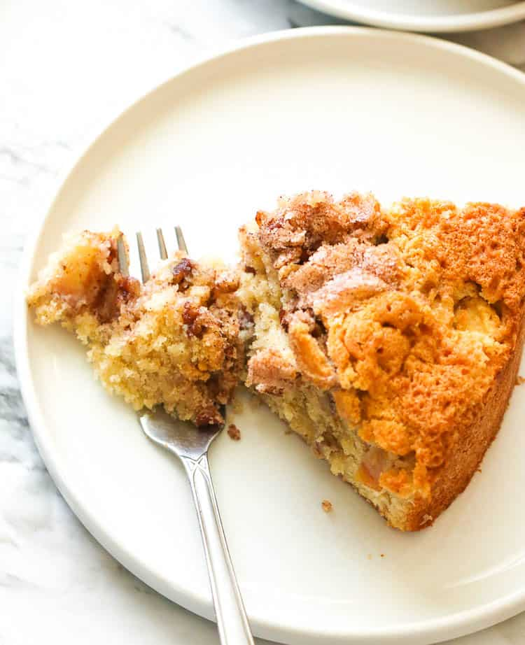 Cinnamon Apple Cake Slice