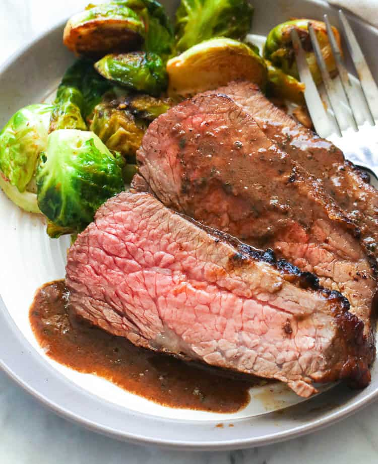Oven Tri Tip Roast with Sauteed Brussel Sprouts