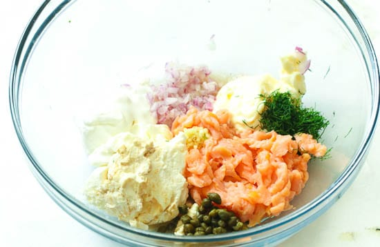 Salmon Dip Ingredients