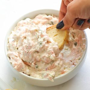 Salmon Dip with a baguette