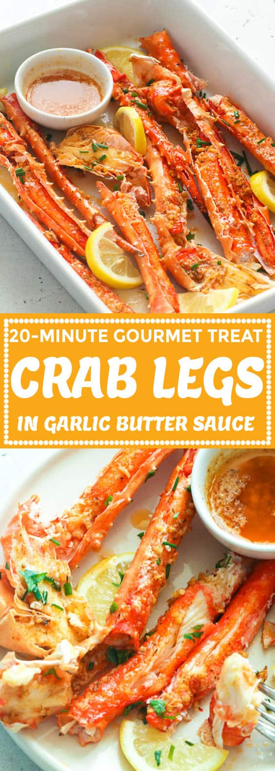 Baked Crab Legs in Butter Sauce