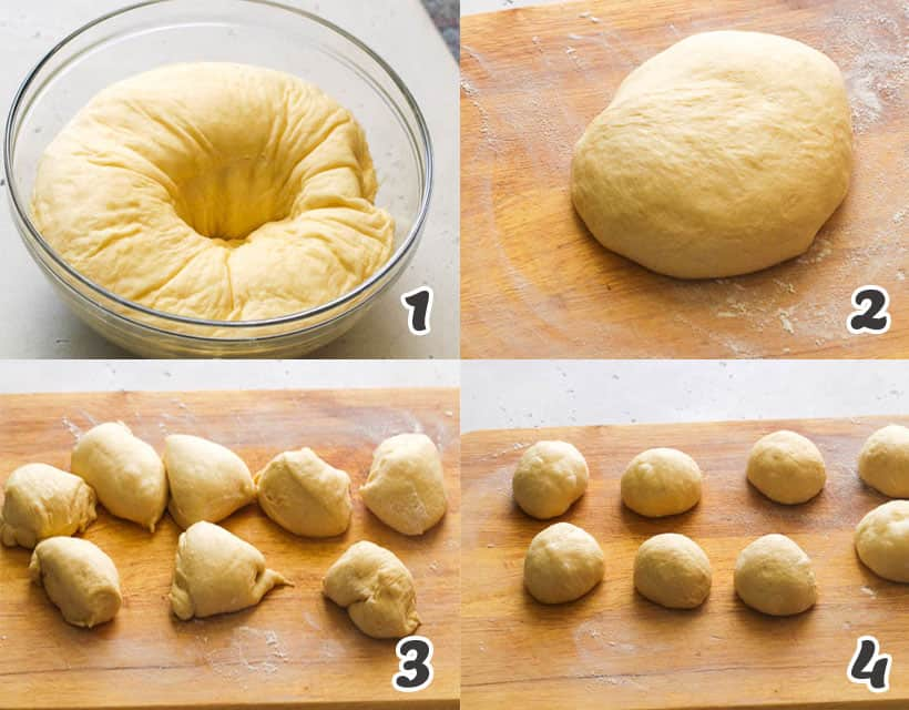 Shaping the Coco Bread