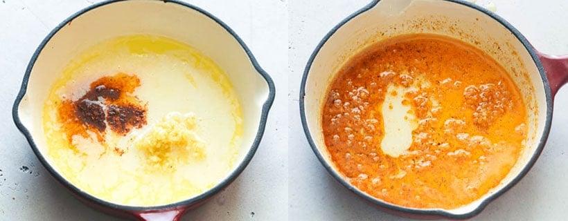 Crab Legs in Garlic Butter Sauce