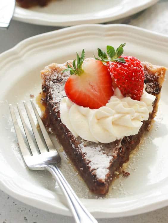 Chocolate Chess Pie Slice
