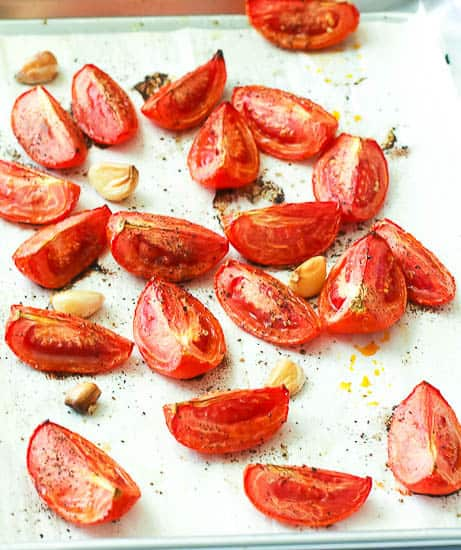 Roasted Tomatoes and Garlic Cloves