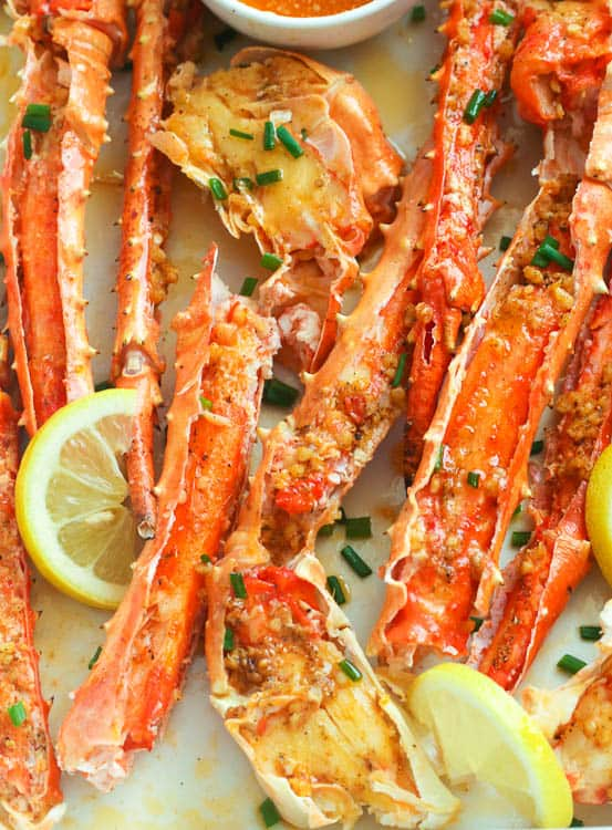 Baked Crab Legs In Butter Sauce Immaculate Bites