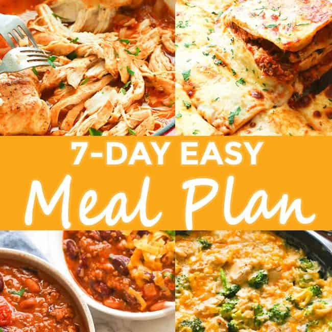 7-Day Easy Meal Plan