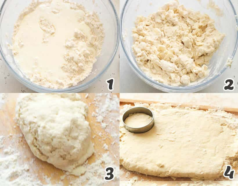 Cutting the Biscuits Dough