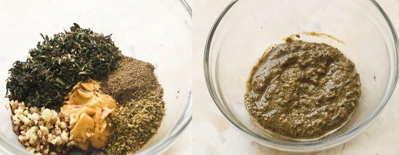 Herb and Mustard Paste
