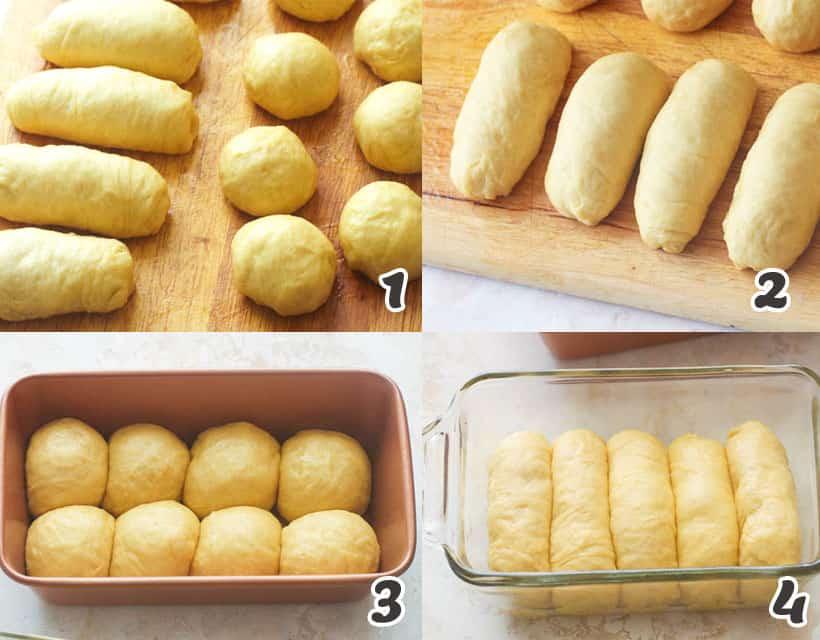 Brioche Bread in Two Shapes