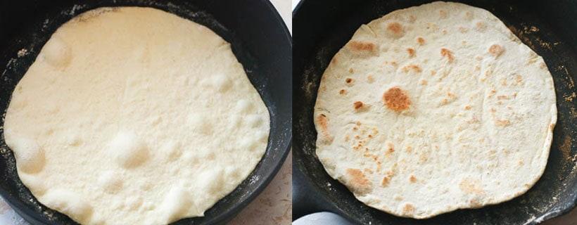 Pan Frying the Tortilla