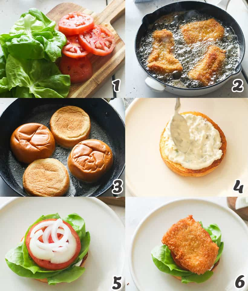 How to Assemble Fish Sandwich
