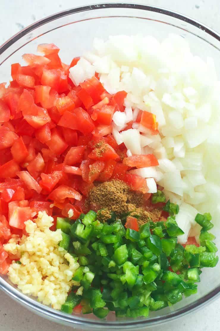 Diced Pico de Gallo Ingredients