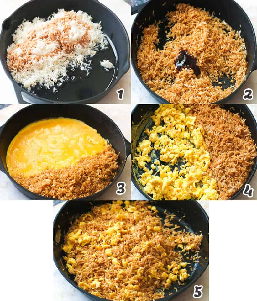 Cooking Rice and Egg