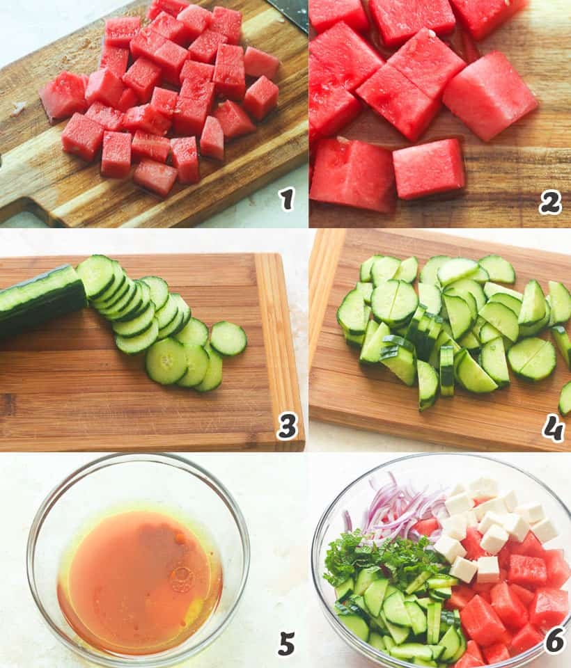 How to Make a Watermelon Salad