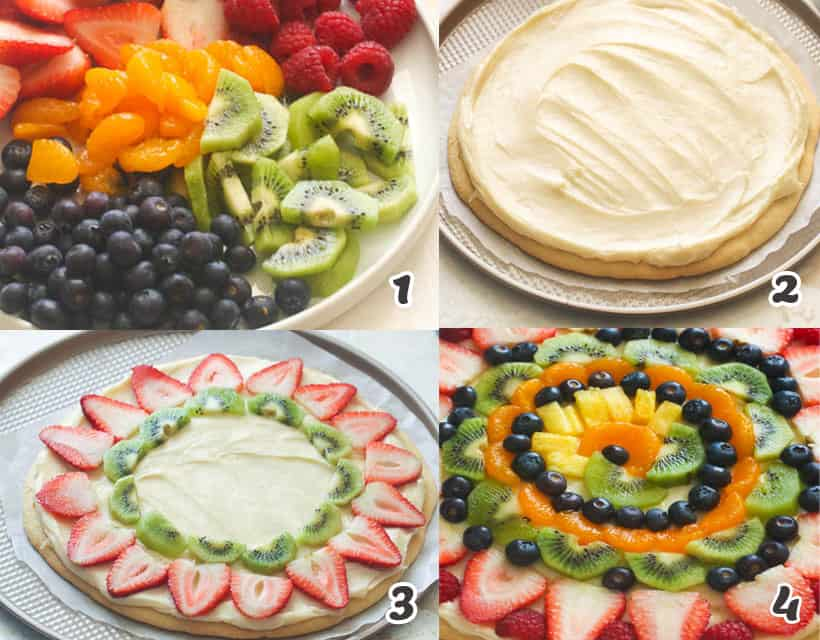 Fruit Pizza Assembly