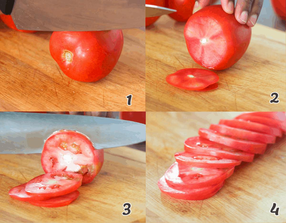 round tomato cuts