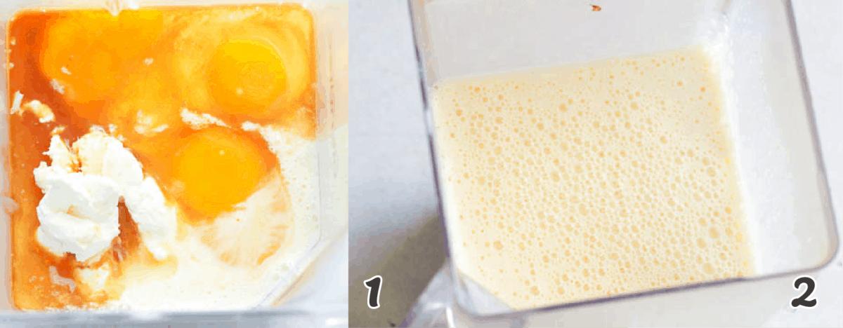 making the custard flan