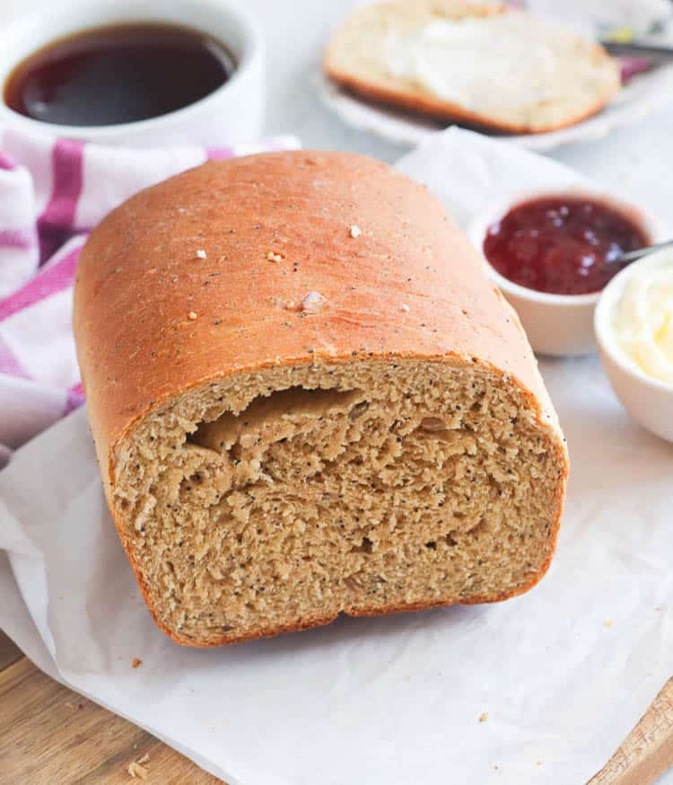 Half Loaf of Whole Wheat Bread