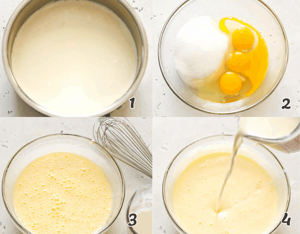 Custard Making Process